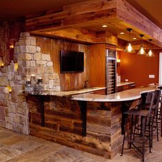Nice walls behind this basement bar. http://homedecor.tropicalhouseplants.net/