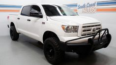V8 Automatic White 2011 Toyota Tundra Crewmax 4x4, 4WD Truck  Visit http://www.SouthCoastAutos.com  Used Truck for sale in Houston, Texas 77008, Waller TX 77484, Katy TX 77492, Brookshire TX 77423, Alvin TX 77511, League City TX 77573, Texas City TX 77590, Seabrook TX 77586