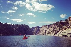 Beautiful day at Alcova Lake, Wyoming. Wyoming will always make my heart melt.