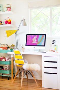 Diy ikea desk hack lovely indeed ikea hilver, ikea linnmon, ikea micke, mic Ikea Hacks, Desk Hacks, Home Office Furniture, Home Office Decor, Home Decor, Office Ideas, Ikea Furniture, Furniture Stores, Pallet Furniture