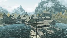The Art of Architecture: Skyrim Skyrim, Minecraft City Buildings, Fantasy World, Architecture, Painting, Inspiration, Blog, Conceptual Art, Cities