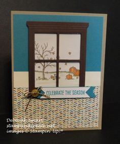 hearth & home Thinlits Die - SU -  Happy Scenes stamp set - Fall