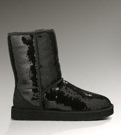 UGG 3161 Classic Short Sparkles Boots Black
