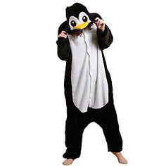Honnête pingouin noir et blanc Polaire Pyjama Kigurumi Cartoon nuit animale Halloween Costume de 776791 2016 à €22.48