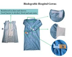 Biodegradable Disposable Hospital Gowns Are Eco-friendly Surgical Apparel Sewing Ideas, Sewing Projects, Hospital Gowns, Scrubs Pattern, Nurse Scrubs, Medical Uniforms, Gown Pattern, Daily Wear, Woven Fabric