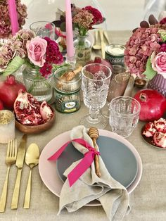 My Extra Sweet Rosh Hashana Table Setting - The Social Kitchen
