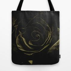 Melancholie Black Rose Tote Bag by Fine2art - $22.00