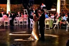 The beautiful bride and handsome groom having their first dance! | Lost River Cave Wedding | Illuminanz