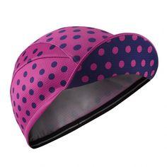 Chapeau! Lightweight Polka Dot Cap Pink/Navy Blue