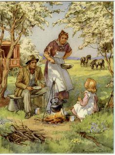 Margaret W Tarrant Vintage Artwork, Vintage Prints, Cicely Mary Barker, Vintage Children, Vintage Postcards, Illustrators, Illustration Art, Book Illustrations, Fairy Tales