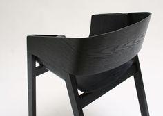 #black #wooden Berta Chair by Alexander Gufler for TON 2011