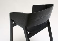 #black #wooden Berta Chair by Alexander Gufler for TON 2011
