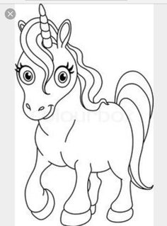buy the royalty free stock vector image outlined coloring page cute unicorn online all rights included high resolution vector file for print web - Coloring Page Unicorn
