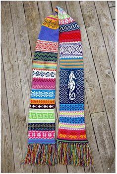 That's a lotta fair isle Fair Isle Knitting Patterns, Knitting Charts, Loom Knitting, Knitting Designs, Knit Patterns, Free Knitting, Knitting Projects, Learn How To Knit, Knitting For Beginners