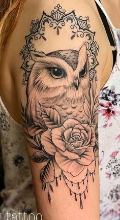 50 of the Most Beautiful Owl Tattoo Designs and Their Meaning for the Nocturnal Animal in You - KickAss Things Tribal Owl Tattoos, Wolf Tattoos, Cute Tattoos, Beautiful Tattoos, Tattoos For Guys, Geometric Tattoos, Fish Tattoos, Tattoo Designs, Owl Tattoo Design