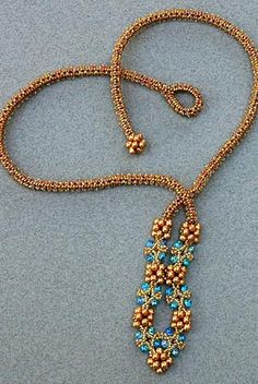 Classical Twist Necklace  Twists of all kinds make up this piece. Learn a twist on tubular herringbone using 15/0 seed beads to create a fla...
