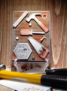 Marilyn's stamping studio: It's a mans thing!