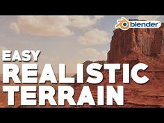 Easy Realistic Terrain (Part 2 - Desert Mountain) - YouTube