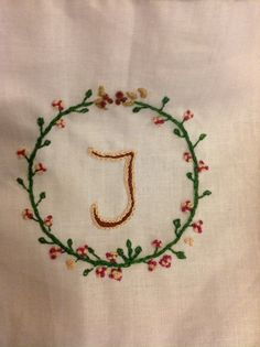 Embroidery in detail.
