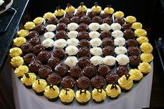 Ideas for Birthday Cupcakes. You may think that ideas for birthday cupcakes are difficult to find easy birthday cupcakes. Birthday Cakes For Men, 40th Birthday Cupcakes, 40th Cake, 40th Birthday Parties, 70th Birthday, Birthday Celebration, Birthday Centerpieces, Happy Birthday, 40th Party Ideas