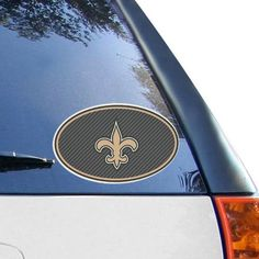 New Orleans Saints 6'' x 6'' Carbon Die-Cut Repositionable Vinyl Decal - $5.99