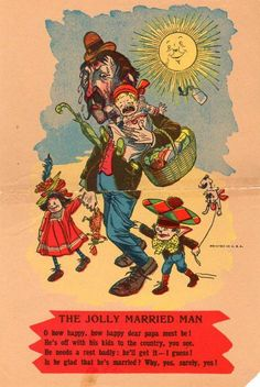 EARLY VINTAGE VINEGAR VALENTINE*PENNY DREADFUL*JOLLY MARRIED MAN*FREE SHIPPING