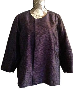 Eileen Fisher Formal Silk Jacket Top Grape Tweed. Free shipping and guaranteed authenticity on Eileen Fisher Formal Silk Jacket Top Grape TweedGorgeous silk formal jacket in perfect condition w...