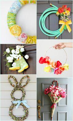 #DIY Spring Wreaths and Door Decor