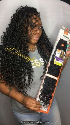 56 Dope Box Braids Hairstyles to Try - Crochet braid styles - Box Braids Hairstyles, Braided Cornrow Hairstyles, Braided Hairstyles For Black Women, Braids For Black Hair, Black Girl Braids, Dope Hairstyles, Hairstyles 2018, Curly Crochet Hair Styles, Curly Hair Styles