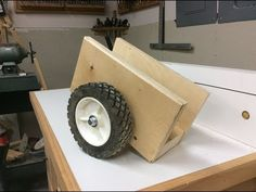 How to make this simple scrap wood dolly will save you back. It makes moving large sheets of plywood and heavy doors extremely easy. Carrying plywood is hard. Diy Garage Storage, Tool Storage, Make A Door, Skill Saw, Diy Shops, Plywood Sheets, Wrench Set, Wood Lathe, Pen Sets