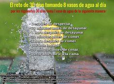 El reto de 30 días tomando 8 vasos de agua al día