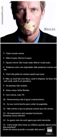 frases do Dr. House Md, Gregory House, Hugh Laurie, Sense Of Life, Tv Show Music, House Quotes, Light Of Life, Greys Anatomy, Humor