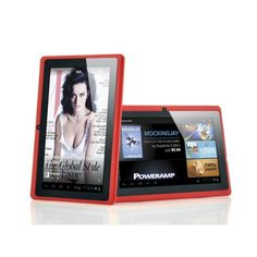 """Budget Android Tablet PC """"Lavos"""" - 7 Inch Screen, 1GHz CPU, 512MB RAM, Wi-Fi, 4GB Memory (Red)"""