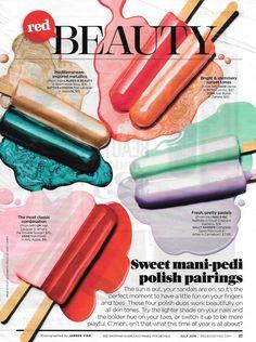 Mani-Pedi Pairings Redbook Magazine July 2016