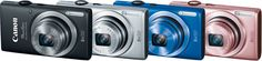 """The Canon PowerShot ELPH 115 IS provides a 16MP sensor and 8x optical zoom lens. Available in black, silver, blue and pink, the ELPH 115 IS offers portability (less than 1"""" thick) to go with its high-resolution imaging."""