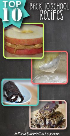 Top 10 Back to #School #Recipes