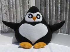 Plush Penguin Pillow  Plushie  Stuffed Animal