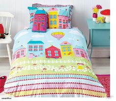 Quilt Covers Cubby House Kids Reversible Lovely Lane Quilt Cover Set Single Double Or Cushion & Garden Cotton House, Cubby Houses, Toddler Rooms, Kids Rooms, Quilt Cover Sets, Cubbies, Table Linens, Home And Living, Kids Bedroom
