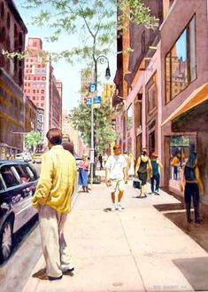 """Ruth Newquist, """"Uptown"""", watecolor painting"""