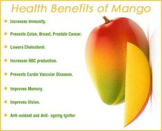 Medical and Health Science: Health benefits of yummy Mango Mango Health Benefits, Fruit Benefits, Healthy Facts, Healthy Tips, Healthy Food, Healthy Options, Healthy Recipes, Daily Health Tips, Health And Wellness