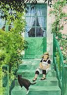 Linea in Monet's Garden, illustrated by Lena Anderson.