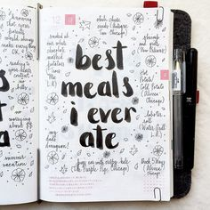 Thirsting for more bullet journal ideas? Here's the second installment of Ultimate List of Bullet Journal Ideas! Get your bullet journals ready! Wreck This Journal, My Journal, Journal Prompts, Journal Ideas Smash Book, Journal Ideas Tumblr, Happy Journal, Smash Book Pages, Journal Topics, Travel Journal Pages