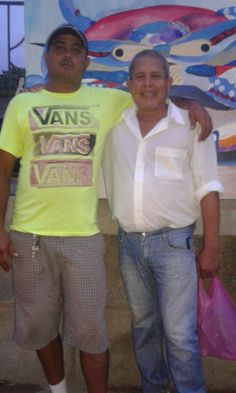 pablo latino con Miguel Ángel Gonzáles pintor sud realista  de Nicaragua