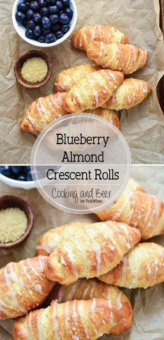 As we start edging our way into spring, I can't help but think about all the delicious food that comes along with it. These blueberry almond crescent rolls are one of those recipes.