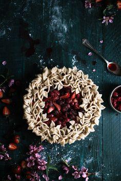 Triple Berry Pie with a Vanilla Bean Crust