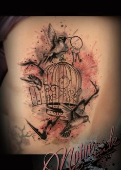 Love tattooing portrait of birds or animal, a lot of work to understand how…