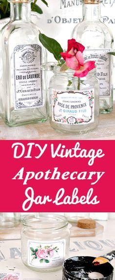 DIY Vintage Apothecary Labels - Graphics Fairy - Dreams Factory