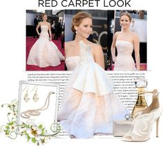 """Oscars 2013-Jennifer Lawrence"" by dreaming-girl-97 ❤ liked on Polyvore"