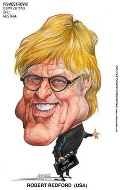 Robert Redford caricature printed at New York Times Syndicate