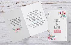 Grafikus esküvői meghívó, rusztikus esküvői meghívó, vintage esküvői meghívó
